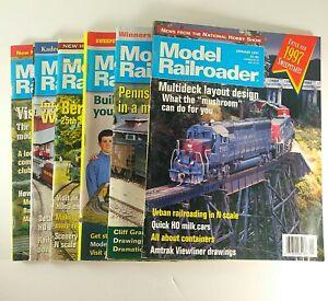 Model-Railroader-Magazine-1997-Kalmbach-Publishing-Lot-of-6-Model-Trains-Hobbies