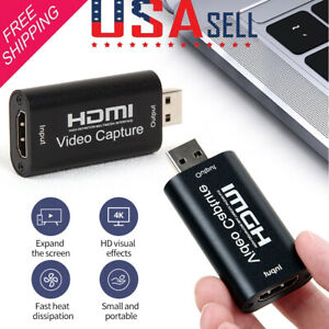 Audio Video Capture Card HDMI to USB 2.0 Capture Card Device,Full HD UP to 1080P Game Capture Card for High Definition Acquisition,Live Streaming