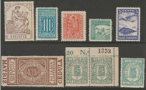 Spain-Cinderella-poster-Revenue-fiscal-mix-collection-stamp-ml8-as-seen-MNH-GUM