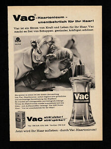 3w4591/old advertising from 1960 – Vac haartonicum – essential for your hair.
