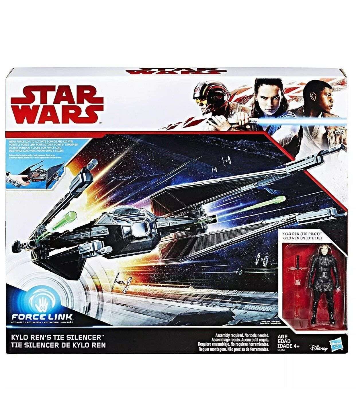 Star Wars Force Links Kylo Ren's Tie Silencer Silencer Silencer and Klyo Ren Tie Fighter Pilot 0ca432