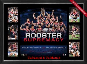 0805c400de1 Image is loading Sydney-Roosters-2018-NRL-Premiers -Supremacy-Tribute-UNFRAMED-