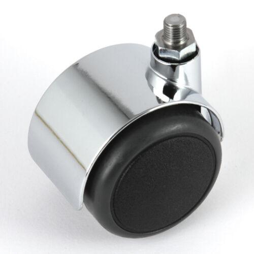 Satz Möbelrolle 50 mm für USM Haller Rolle Hartbodenrolle Chrom mit ohne Bremse