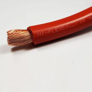 50mm2 345 amperios una batería de PVC flexible Cable de Soldadura Rojo 1-100M M longitudes Auto