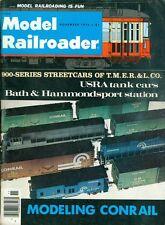 1976 Model Railroader Magazine: 900-Series Streetcar of TMER&L.CO/USRA Tank Cars