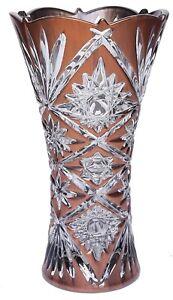 24cm-Tall-Wide-Mouth-Copper-Glass-Flower-Vase-Flared-Design-Vase-Star-Design