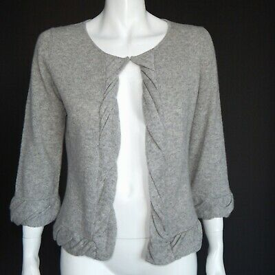Cynthia Rowley 100% Cashmere Clasp Collar Cardigan Gray Sweater Womens Small 209 | eBay
