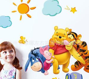 1 x winnie the pooh und tigger kinderzimmer wand. Black Bedroom Furniture Sets. Home Design Ideas
