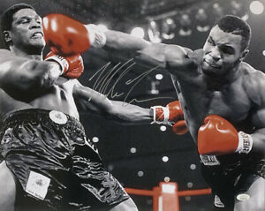 Mike-Tyson-Signed-16x20-Boxing-Photo-vs-Trevor-Berbick-JSA-ITP