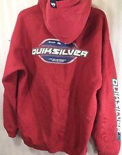 vintage Men's quicksilver hooded sweatshirt medium red Surf Skate