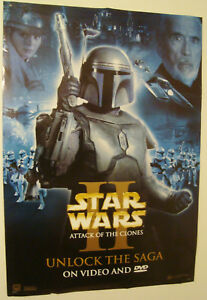 2002-STAR-WARS-Episode-2-JANGO-fett-poster-100-x-70cm-FILM-MOVIE-Original-VIDEO