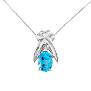 14k-White-Gold-7x5-mm-Blue-Topaz-and-Diamond-Oval-Shaped-Pendant-with-18-034-Chain