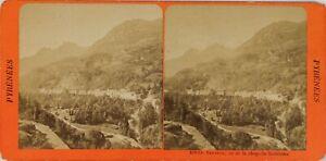 Francia Pyrenees Saint-Sauveur Vista Da La Chappelle Solferino, Stereo Albumina