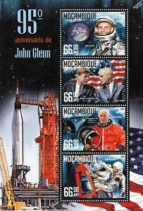 GéNéReuse Le Sénateur John Glenn Nasa Astronaute Espace Timbre Feuille (2016 Mozambique)-afficher Le Titre D'origine