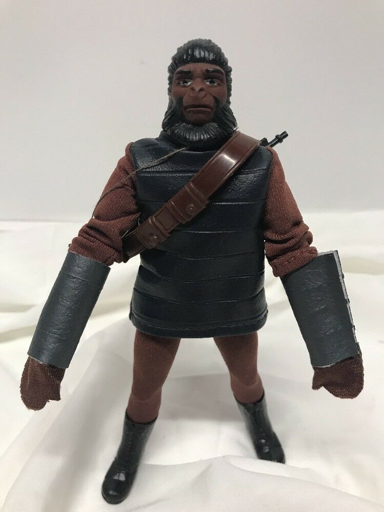 1967 Mego 8  Planet of the Apes Soldier Ape w/Rifle & Bandolier REPO GLOVES