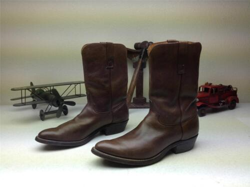 BROWN LEATHER MADE IN USA JUSTIN 3826 WESTERN MOTO