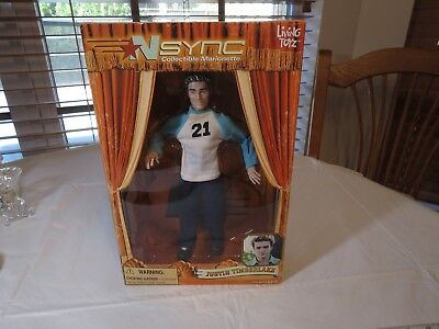 N Sync Collectible Marionette Figure Justin Timberlake living toyz doll puppet