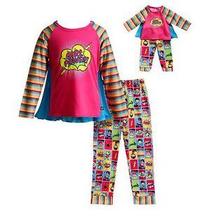 Girl-2-14-and-Doll-Matching-Girl-Power-Superhero-Pajama-Outfit-ft-American-Girl