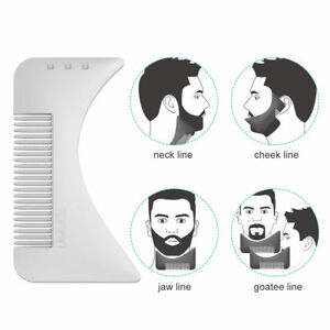 beard template comb for shaping styling shaper tool for mustache