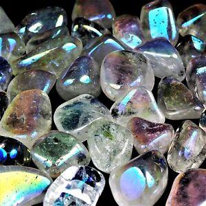 25-g-Aqua-Aura-Bergkristall-Trommelsteine-25-40-mm-A-Qualitaet-Angel-Glow