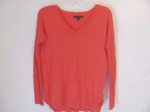 American-Eagle-Women-039-s-Shirt-Top-Size-XS-Pink-Long-Sleeve-V-Neckline