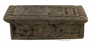 Antico Supporto Libro Preghiera Tiretaine-Tavolo Tibet-Tibet Nepal -5758