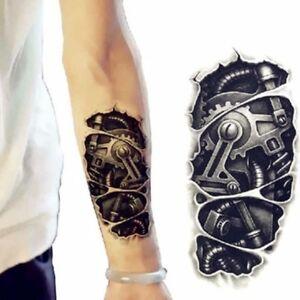 a003a36d768e1 Men's 3D Arm Tattoo Temporary Tattoos Sticker Fake Tatoo Body Art ...