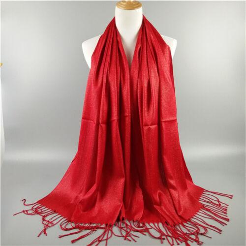 US Women Ladies Soft Pashmina Neck Scarf Winter Cashmere Wool Shawl Wraps Stole