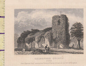 Art Hearty C1815 Antique Small Georgian Print ~ Chingford Church Essex Cheapest Price From Our Site