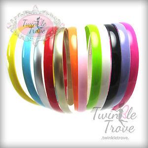 Fille-mince-12mm-Acrylique-Plastique-Alice-Serre-tete-Bandeau-rainbow-couleur