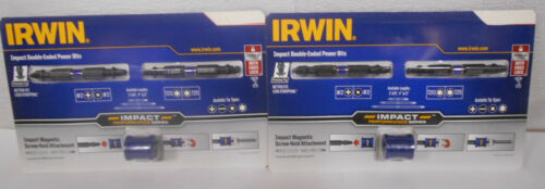 Irwin Impact Double-Ended Power Bits with Magnetic Screw Hold Attachment 4 Bits