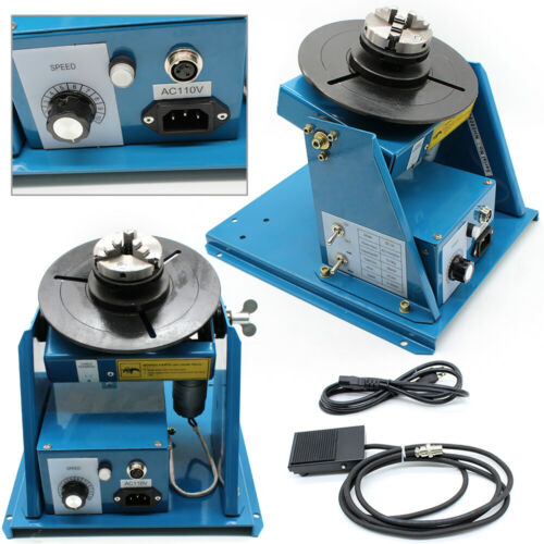 10KG Rotary Welding Positioner Turntable Timing 220mm Chuck Foot Switch 220V