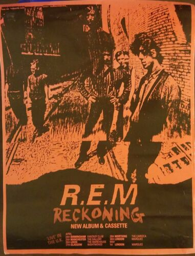 R.E.M. Reckoning UK Concert Poster - EXTREMELY Rare - FREE Shipping*