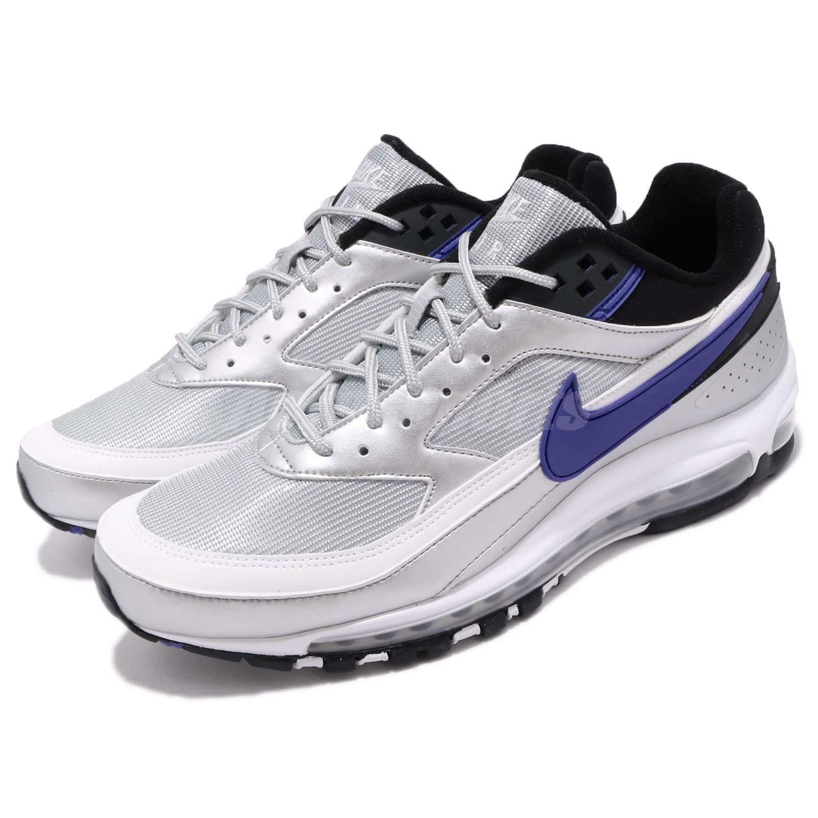 online retailer 60b89 72da2 Nike Air Max 97 BW Metallic Metallic Metallic Silver Violet Running Shoes  Sneakers AO2406-002 6995d8