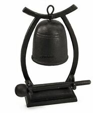 Cast Iron Ornamental Yoke Dinner Gong Bell With Striker Table Top Chinese New