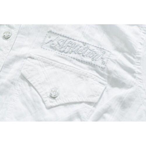 Woven Affliction Patrol Ladies Shirts White Shirt 8fwq1wx0