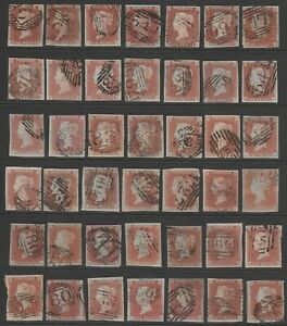 1841-52-SG8-1d-RED-BROWN-PLATED-GOOD-FINE-USED-4-MARGIN-PLATED-ALPHABET-I-amp-II