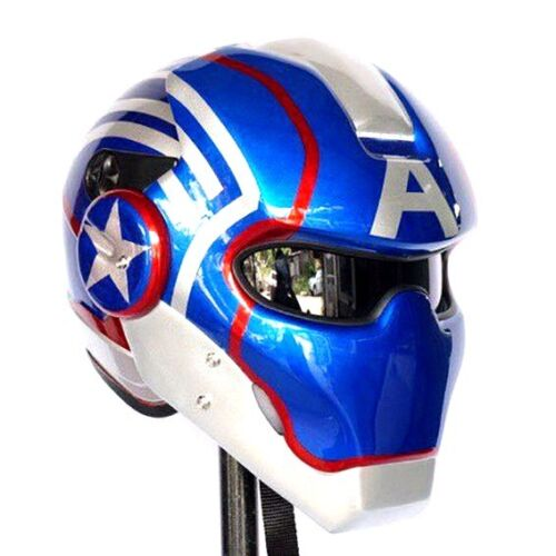 Motorcycle Helmets Dot >> CAPTAIN AMERICA HELMET CUSTOM AIRBRUSH PAINTED MOTORCYCLE | eBay