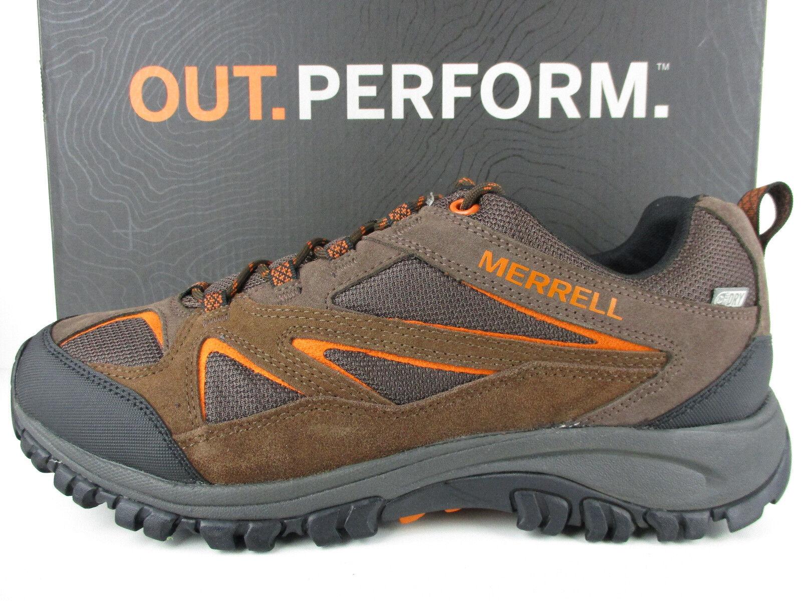 Merrell Phoenix azulff J35629 Para Hombre Zapato Senderismo Impermeable muy bonito seminuevo