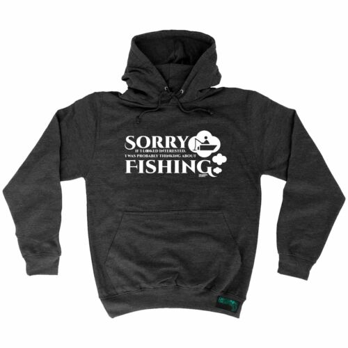 Fishing Hoodie Probably Thinking About Fishing hoody fish funny BirthdayHOODY