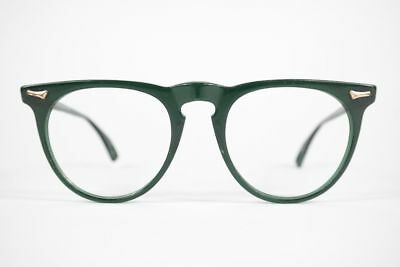 Accurato Vintage City Collection Capitol 5003 48 [] 16 140 Verde Ovale Occhiali Eyeglasses Nos-