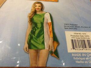 4d35ce00a9415 NEW Rasta Imposta Ireland Flag Dress Adult Costume Fits Womens Size ...