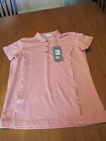 Womens Tehama Green Golf Shirt, Nwt, M