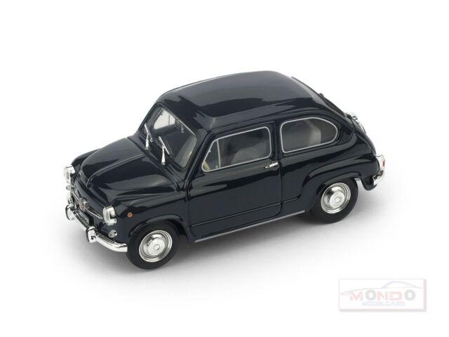 Fiat 600D Fanaloni  1965 bleu scuro 456 - Brumm R349-05