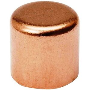 "(Bag of 1) 2"" Copper Cap Sweat Solder Joint"
