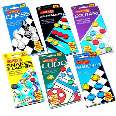 Classic Magnetic Travel Board Games Ludo Chess Draughts Snakes and Ladders