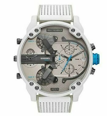 Diesel DZ7419 Men's Mr. Daddy 2.0 White Leather Watch