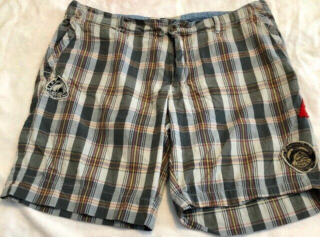 Polo Ralph Lauren Plaid Shorts Hunting & Fishing Club Patchwork Rare Men's 38