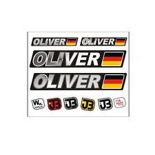 OLIVER Auto Fahrrad Motorrad Kart Helm Fahrername Aufkleber Sticker Flagge