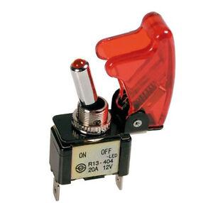 Lampa-ALUMINIO-INTERRUPTOR-DE-PALANCA-12v-20a-ON-OFF-4555-6-LED-Seguridad-Tapa